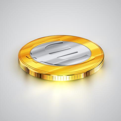 Realistische Münze, Vektorillustration vektor