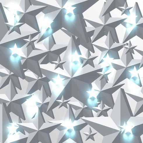 Grå och glödande blå stjärnor bakgrund, vektor illustration