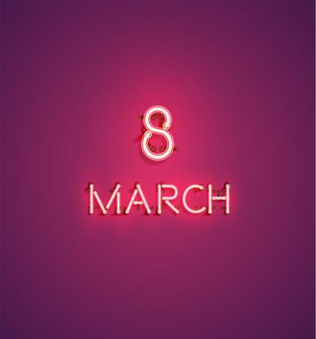 Vektor bakgrund för internationell kvinnodag - 8 mars