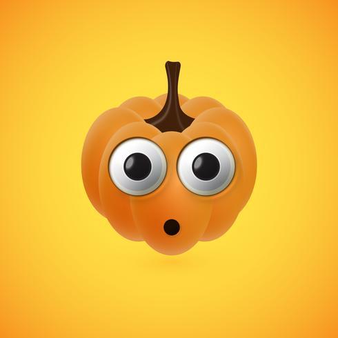 Lustiges Halloween-Kürbisgesicht für Kinder, Vektorillustration vektor