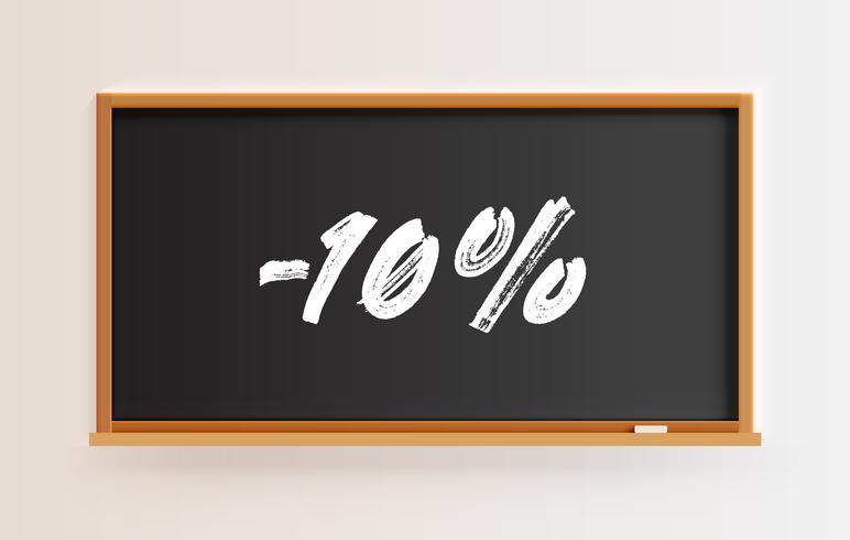 """Hoch detaillierte Tafel mit """"-10%"""" Titel, Vektor-Illustration vektor"""