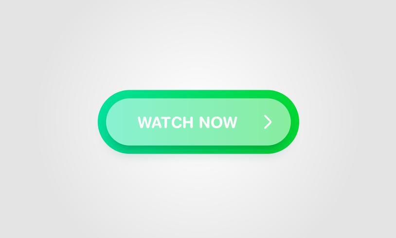 Bunter glänzender und sauberer Knopf für Website und Online-Gebrauch, Vektorillustration vektor
