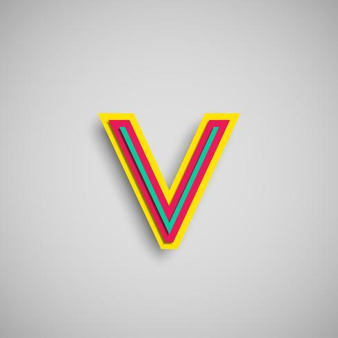 Färgrik pappersklippningstecken från en uppsättning vektor