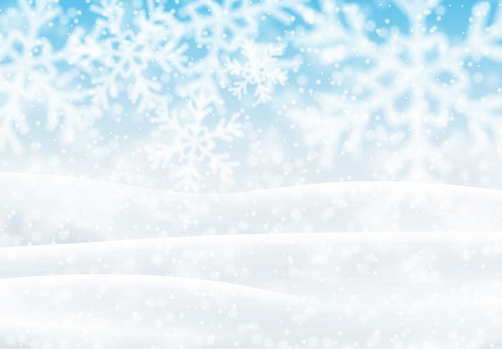 Snöigt landskap, vektor