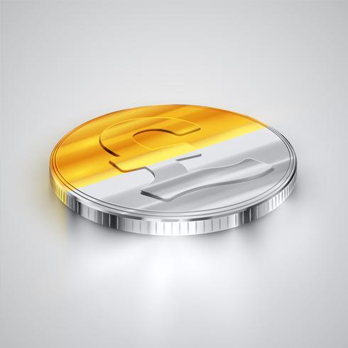 Realistiskt mynt, vektor illustration