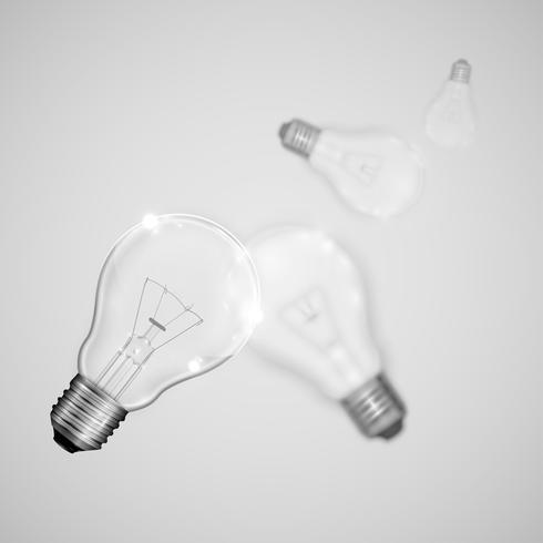 Realistische Glühlampen mit unscharfen, Vektorillustration vektor