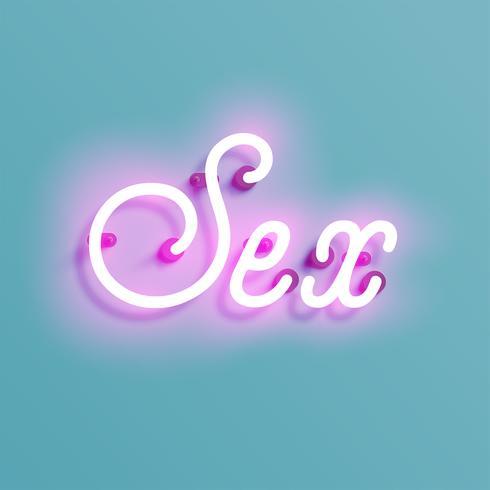 Neonzeichen von einem Schriftbild, Vektor