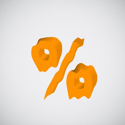 Smältande orange karaktär, vektor