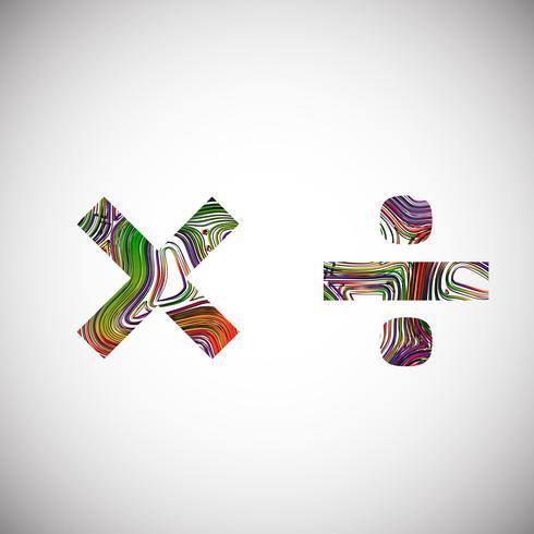 Färgrik karaktär från en typsnitt, vektor illustration