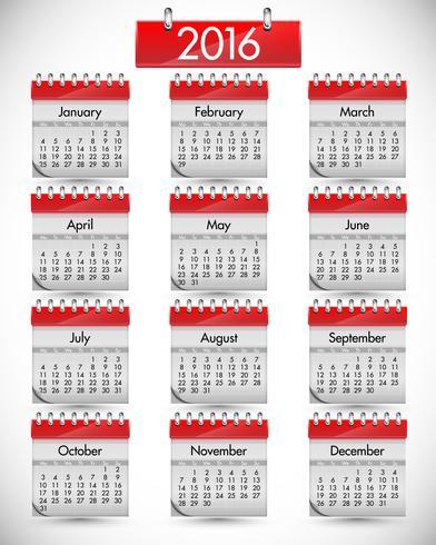 Realistisk kalender med rött hårt lock, vektor illustration