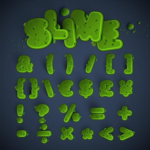 Grön slim typsnitt, vektor
