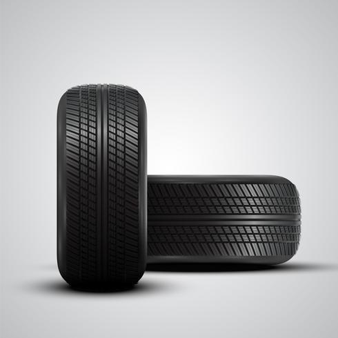 Realistiska däck, vektor illustration
