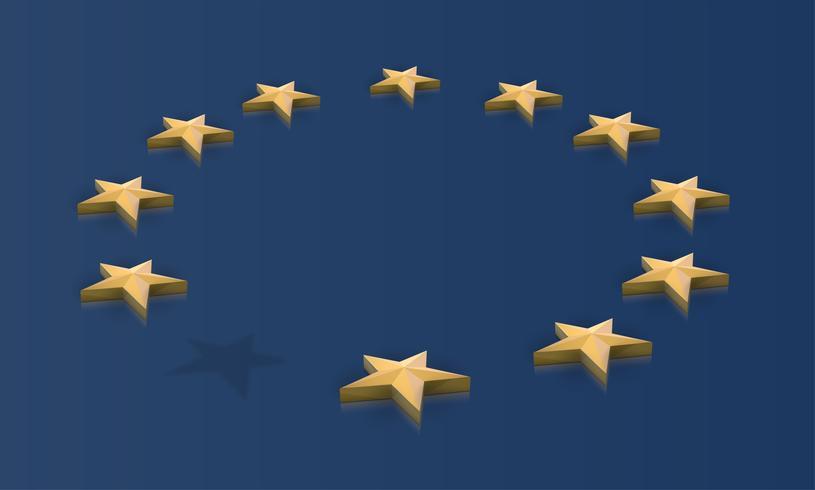 Fehlender Stern von der EU-Flagge, Vektor
