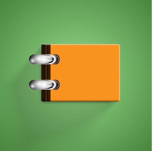 Realistiska färgglada böcker med skugga, vektor illustration