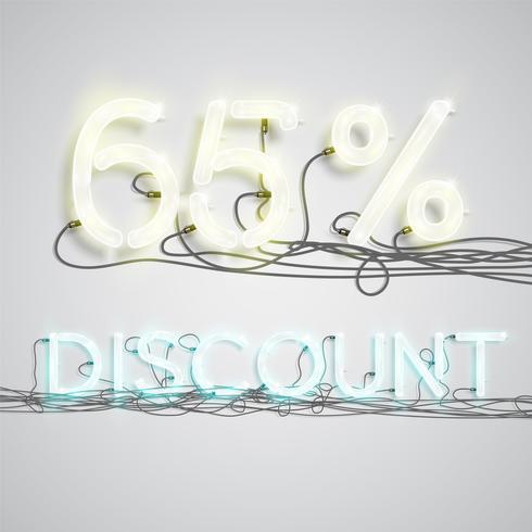 Prozentsatz des Rabattes, Vektorillustration vektor