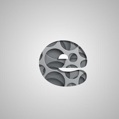 """Layered """"hål"""" karaktär från en fontset, vektor"""