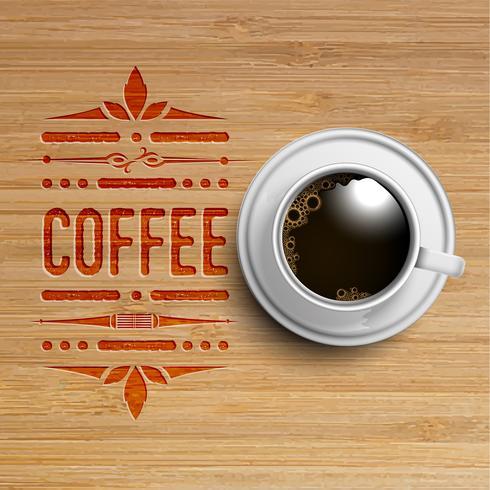 En realistisk kopp kaffe, vektor