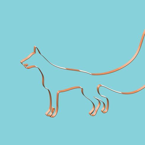 Realistiska band formar ett djur, vektor illustration