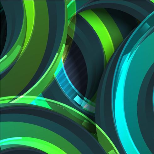 Bunter grüner Kreiszusammenfassungshintergrund, Vektorillustration vektor