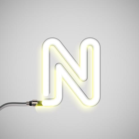 Realistisk neon karaktär, vektor