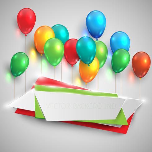 Glatte Ballone der Farbe heben Aufkleber, Vektor an
