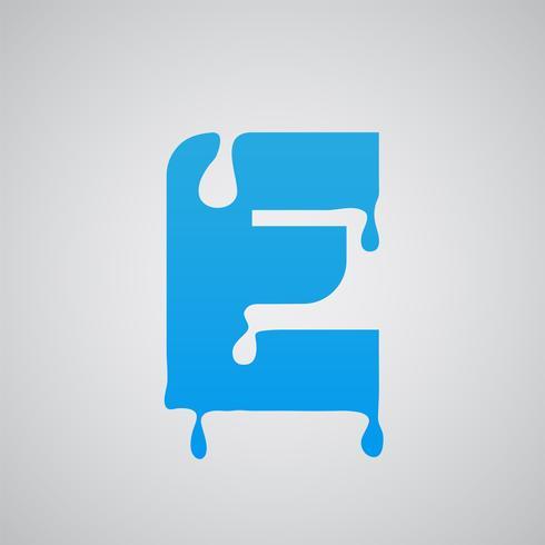Blå flödes tecken, vektor
