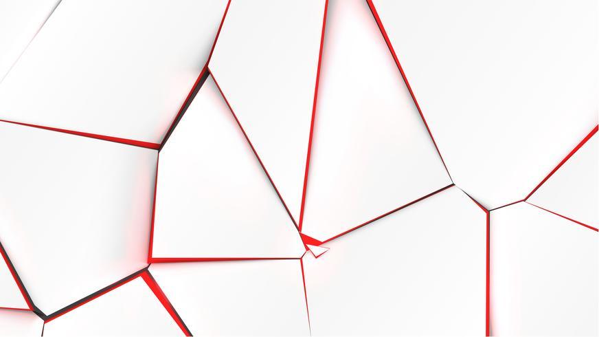 Unterbrochene Oberfläche mit roter Farbe im Inneren, Vektorillustration vektor