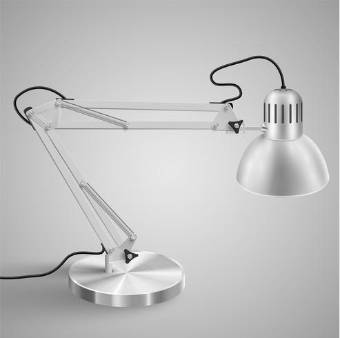 Realistische Metalltischlampe, Vektor
