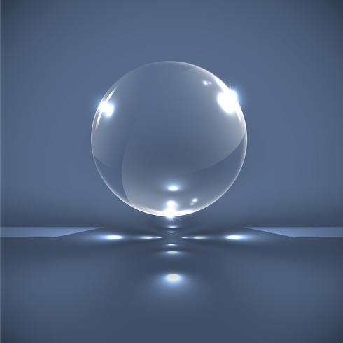 Realistische Glaskugeln, Vektor