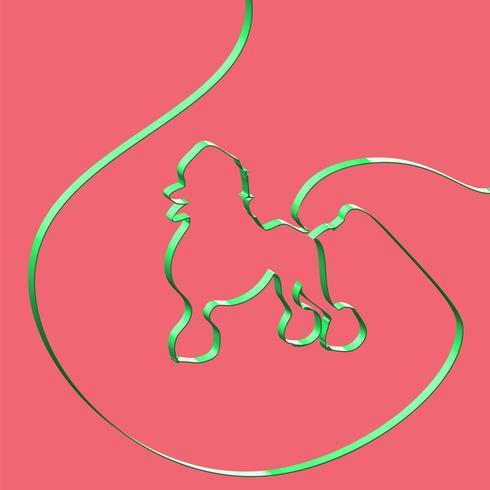 Realistisches Band formt ein Tier, Vektorillustration vektor