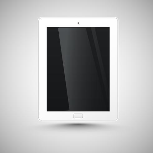 Realistisk tablett, vektor illustration