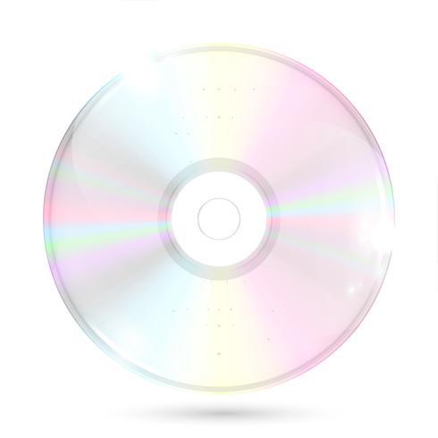 CD / DVD på vit bakgrund, vektor illustration