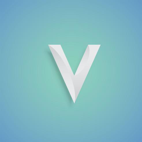 Vitpapperskaraktär på blå bakgrund från en uppsättning vektor