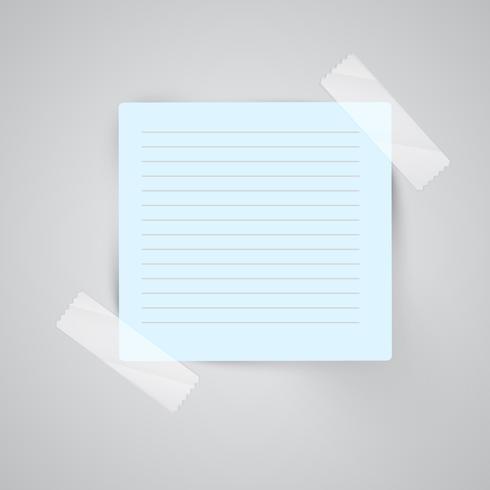 Papieranmerkungen mit sellotape, Vektor