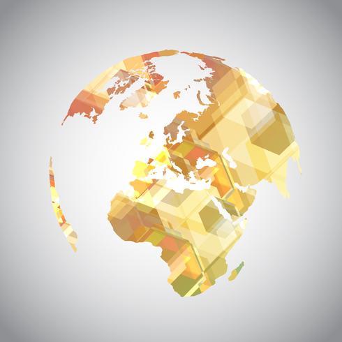 Färgglada abstrakta världssymbol vektor
