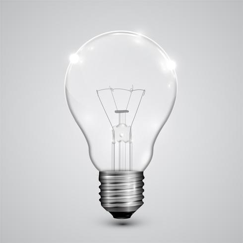 Realistisk lightbulb, vektor illustration