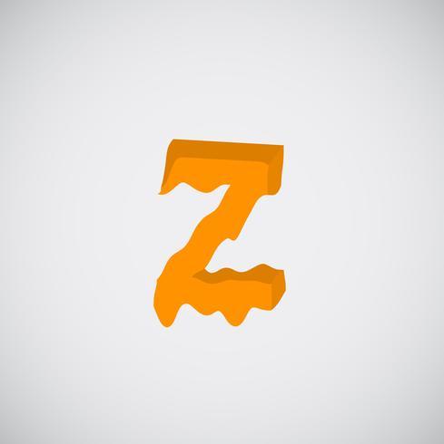Schmelzender orange Charakter, Vektor