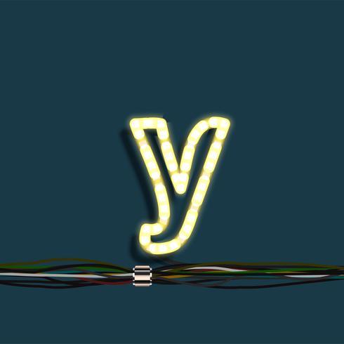 Neongirlandenbuchstabe, Vektor
