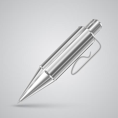 Färgrik realistisk penna, vektor