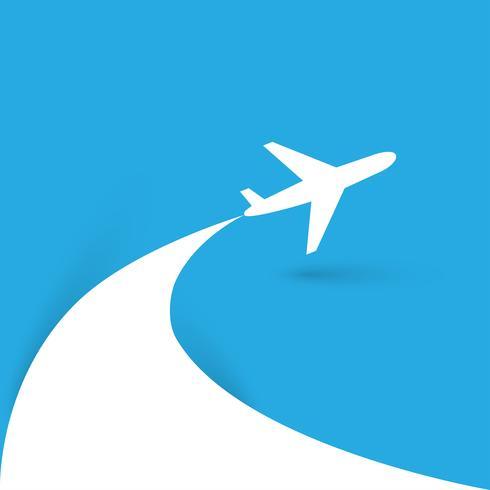 Reisen Sie um die Welt Flugzeug-Symbol vektor