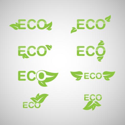 Ekologi ikonuppsättning. Eco-ikoner. vektor