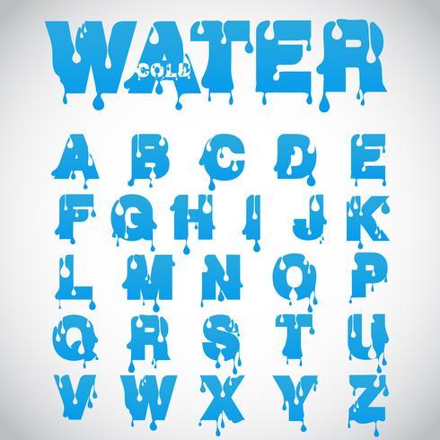 """""""Wasser"""" -Schriftart aus Flussschriftart, Vektor"""