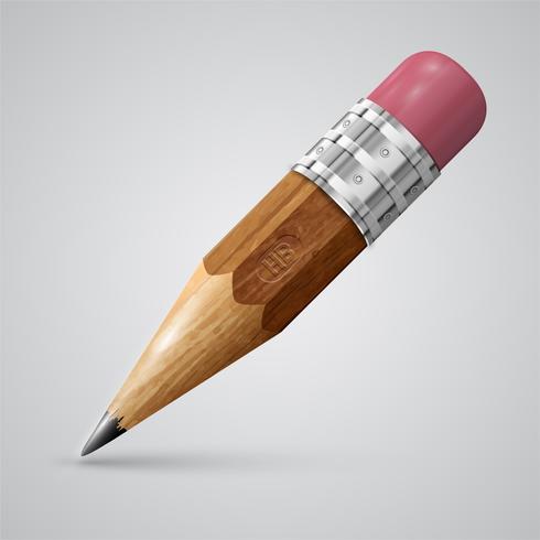 Färgglada realistiska penna, vektor