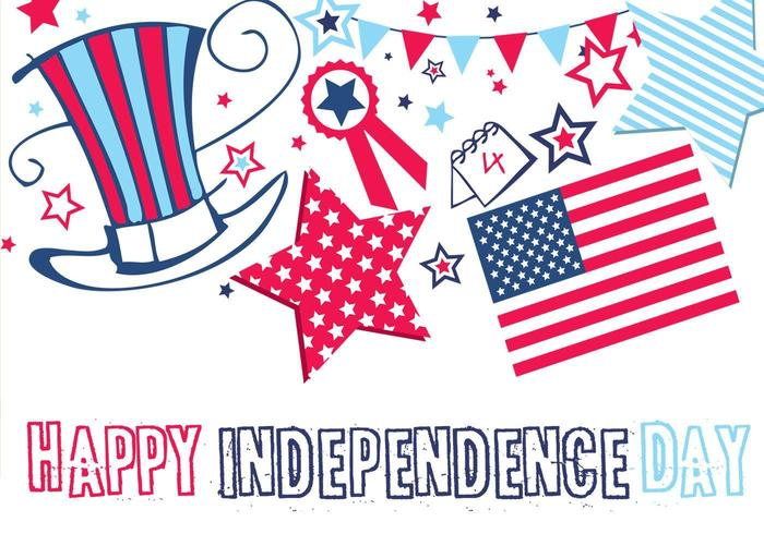 Happy Independence Day Wallpaper och Vector Pack