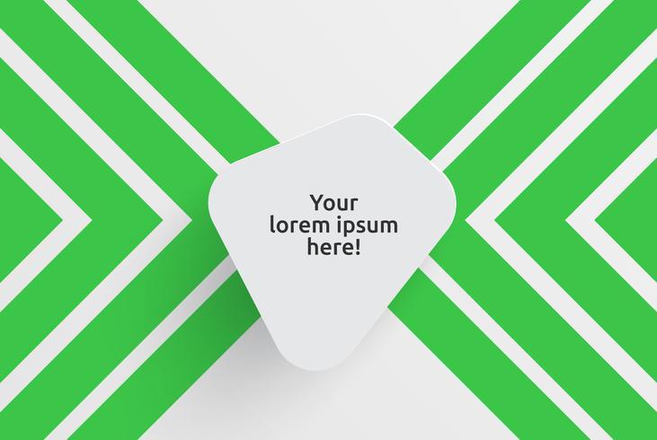 Säubern Sie Schablone für die Werbung mit grünen Pfeilen, Vektorillustration vektor