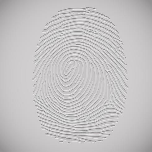 Illustration des Fingerabdrucks 3D, Vektor