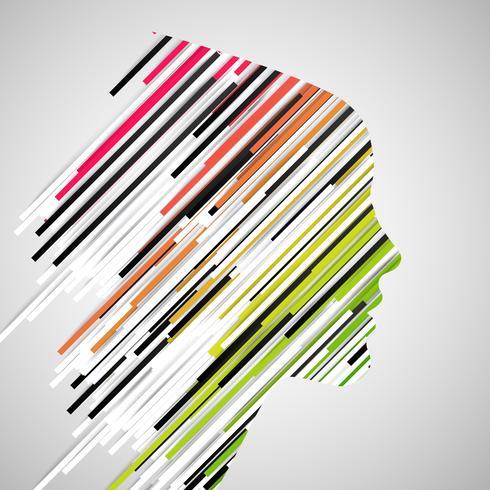 Frauengesichtsform gemacht durch Papierstreifen, Vektor