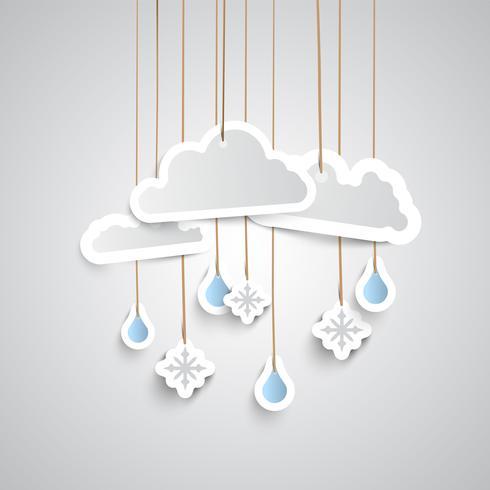 Wettersymbol aus Papier vektor