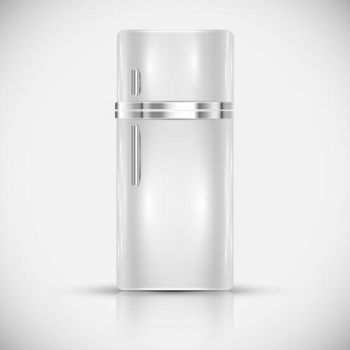 Realistischer weißer Kühlschrank, Vektor