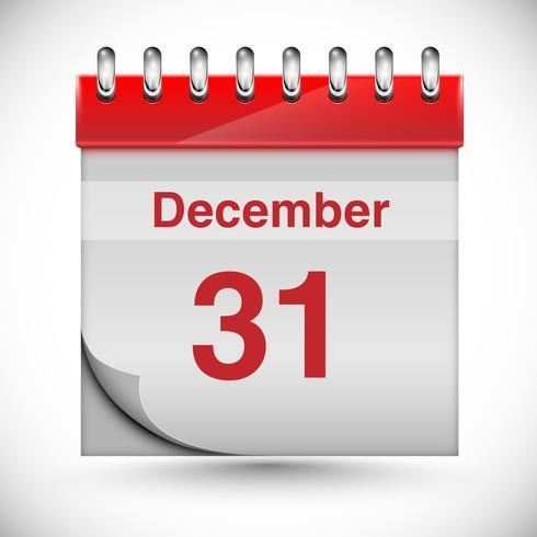 Kalender für neues Jahr, Vektor